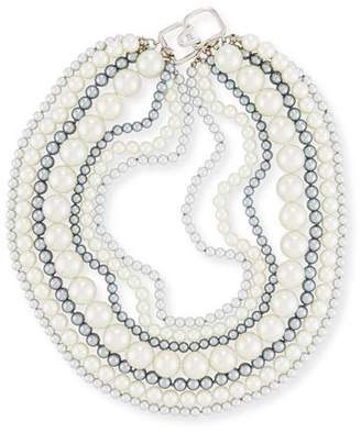 Kenneth Jay Lane Seven-Row Pearly Necklace