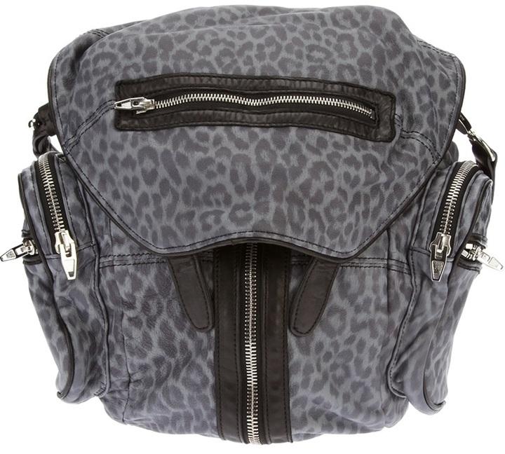 Alexander Wang 'Marti' leopard print backpack