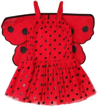 Stella McCartney Ladybug Stretch Tulle Dress W/ Wings