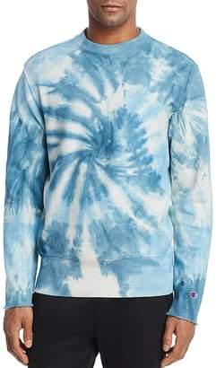Champion Tie Dye Reverse Weave Crewneck Sweatshirt