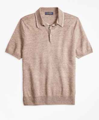 Brooks Brothers Linen and Cotton Polo Sweater
