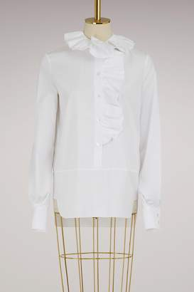 Lanvin Cotton shirt with ruffles
