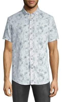 Report Collection Printed Short-Sleeve Button-Down Shirt