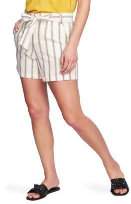 1 STATE 1.State Cabana Stripe Tie Waist Shorts