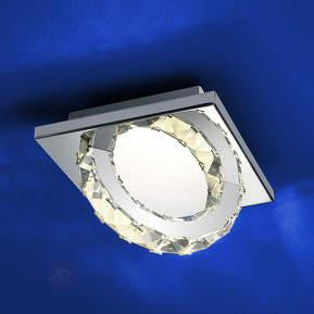 Chromglänzende LED-Deckenleuchte Cascade