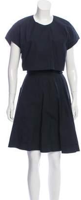 Proenza Schouler Short Sleeve Knee-Length Dress Black Short Sleeve Knee-Length Dress