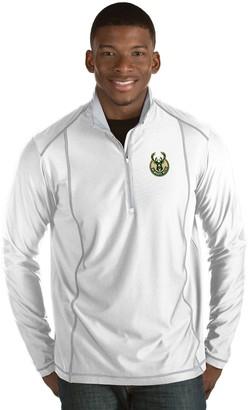 Antigua Men's Milwaukee Bucks Tempo Quarter-Zip Pullover