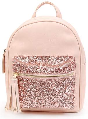 OMG Glitter Pouch Mini Faux Leather Backpack