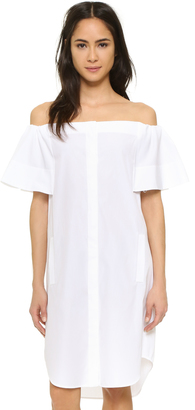 Vince Off Shoulder Shirtdress $295 thestylecure.com