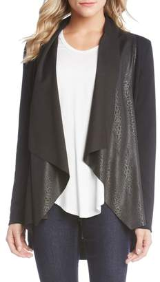 Karen Kane Patterned Drape Front Jacket