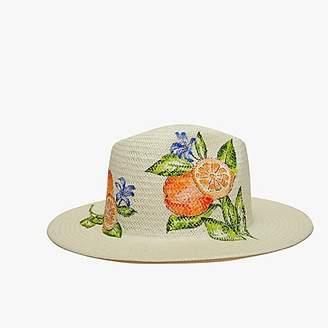 J.Crew Onia Rosa orange Panama hat