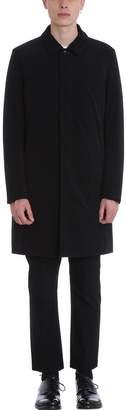 Attachment Black Polyester Coat