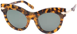 Karen Walker Miss Lark Tortoise Cat-Eye Sunglasses