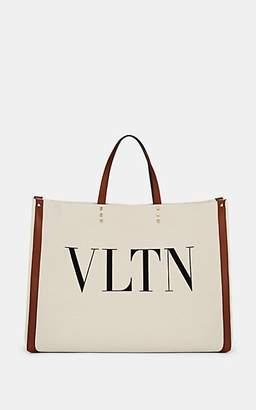 7b314f6ea94 Valentino Women s Grande Plage Canvas   Leather Tote Bag - Brown