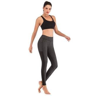 e0ac78cad6898 TXJ Sports Yoga Pants for Women with Side Pockets High Waisted Workout Pants  Tummy Control Gym