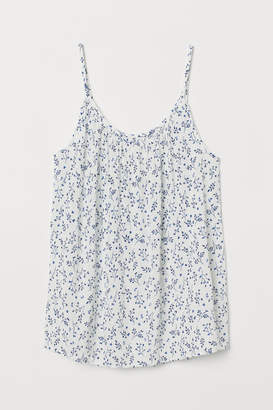 H&M Crinkled Camisole Top - White
