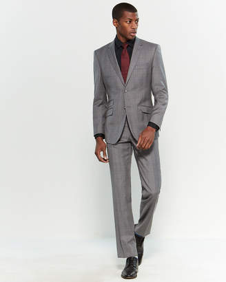English Laundry Two-Piece Grey Windowpane Suit