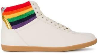 Gucci rainbow hi-top sneakers