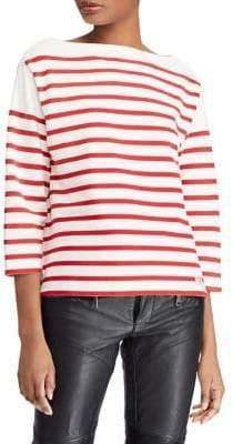 Polo Ralph Lauren Striped Boatneck Cotton Top
