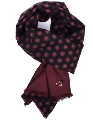 Serà Fine Silk - Dark Brown Burgundy Wool and Silk Scarf