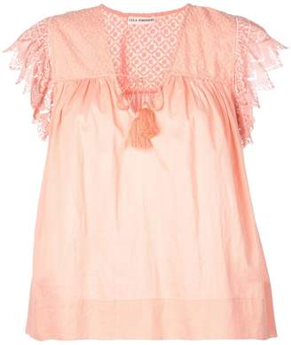 Ulla Johnson lace detail peasant blouse