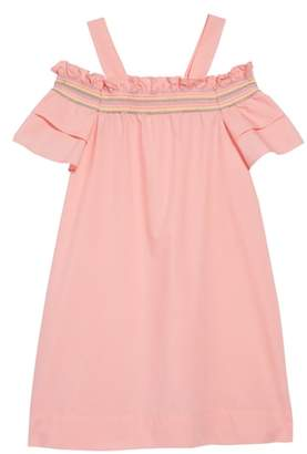 J.Crew crewcuts by Rainbow Smocked Cold Shoulder Dress