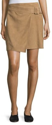 Vince BELTED SUEDE SKIRT $595 thestylecure.com