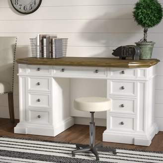 August Grove Collette Solid Wood Desk August Grove