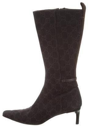 Gucci GG Canvas Mid-Calf Boots
