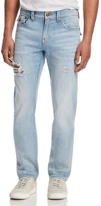 True Religion Geno Slim Straight Fit Jeans in Jet Smoke