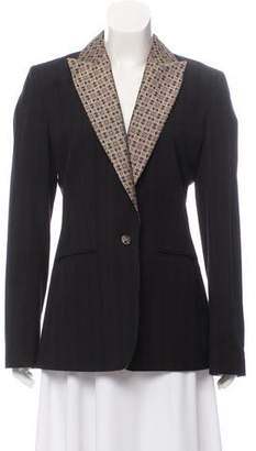 Etro Pinstripe Single Button Blazer