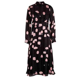 Emily Lovelock - Bird Cage Print Dress Pink