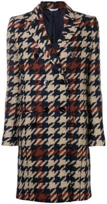 Tonello houndstooth double-breasted coat