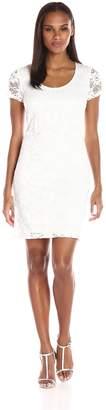 Tiana B Women's Daisy Lace Shift Dress with Short Sleeves