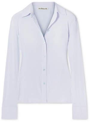 Acne Studios Sara Stretch-jersey Shirt - Light blue