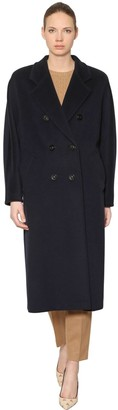 Max Mara MADAME DOUBLE BREASTED WOOL LONG COAT