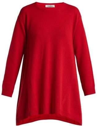 Valentino Draped Cashmere Sweater - Womens - Red