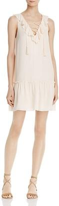 Joie Felip Lace-Up Silk Dress $328 thestylecure.com