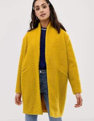 Miss Selfridge texture coat in yellow