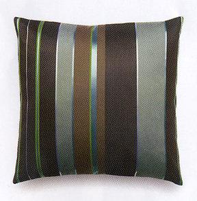 Maharam Repeat Stripe in Peacock Pillow