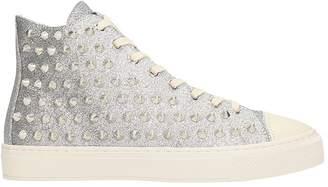 Gienchi Jean Michel Silver Glitter Sneakers