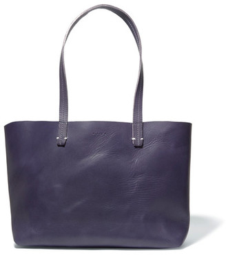 Clare V - Suki Matte-leather Tote - Midnight blue $365 thestylecure.com
