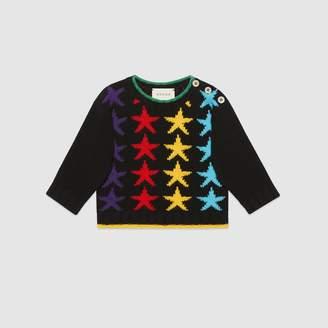 Gucci Baby star jacquard wool sweater