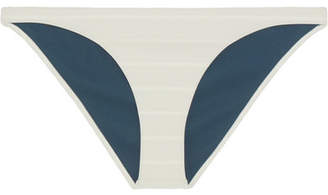 Rochelle Sara The Mercer Striped Bikini Briefs - Petrol
