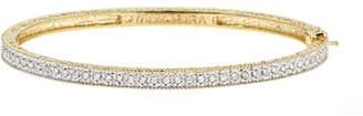Farah Tanya Modern Etruscan Pavé Diamond Bangle Bracelet