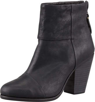 Rag & Bone Newbury Leather Ankle Boot, Black