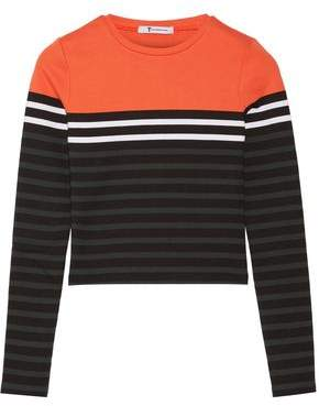 Alexander Wang Striped Stretch-Cotton Jersey Top