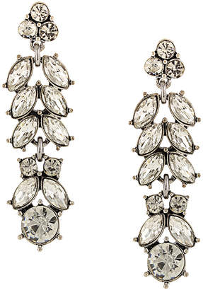 Sparkling Sage Silver Plated Crystal & Resin Drop Earrings