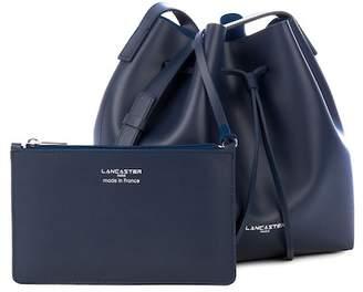 Lancaster Paris Matte Smooth Leather Bucket Bag