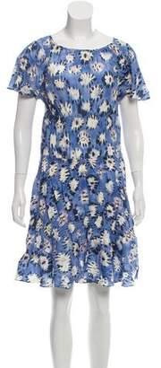 Thakoon Short Sleeve Printed Dress